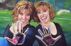 Chalk Twins Self Portrait_small